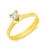 Inel de logodna aur – galben cu diamant Gold and Diamond